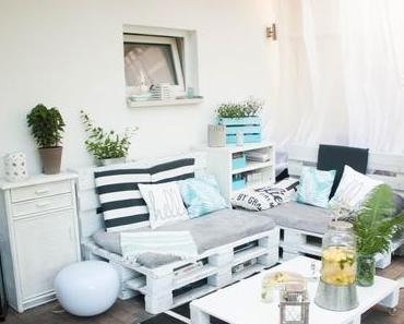 Palettenlounge Terrassen-Makeover