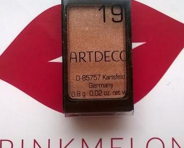 [Review] Artdeco Lidschatten 19 pearly bright nougat cream + 8x4 Deodorant Spray Pure