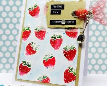 ► Strawberries anyone?? ◄ Color Burst meets Jane's Doodles