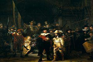 """Dokumentation: """"Rembrandts Nachtwache - Geheimnisse eines Gemäldes"""" / """"Rembrandt's J'Accuse...!"""" [D, FIN, NL 2008]"""