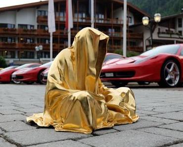 ferrari ferrarimeeting car soelden austria guardians of time manfred kielnhofer contemporary fine art modern arts design fineart sculpture statue antic artshow