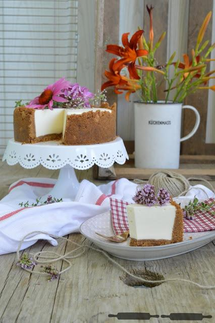 Joghurt Cheesecake mit Keksboden / no bake Yogurt Cheesecake