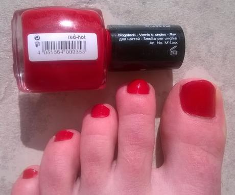 Misslyn nail polish 165 red-hot + Aufgebraucht :)