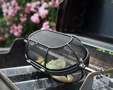 Gegrillter Lachs mit Pommes vom Grill