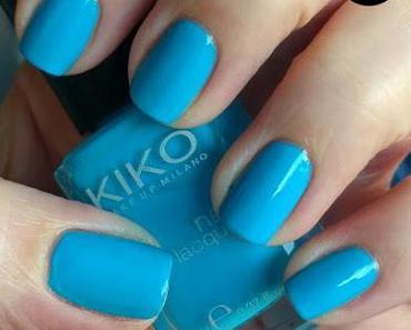 [Nails] Blue Friday mit KIKO 295 Cerulean Blue