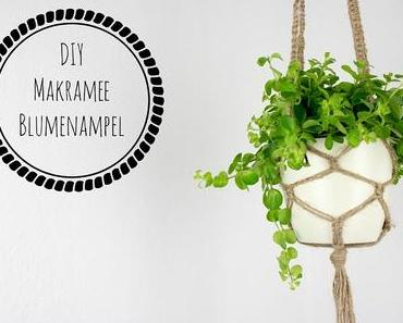 DIY Makramee Blumenampel aus Juteschnur knüpfen