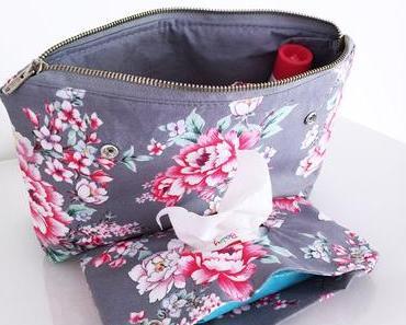 Wickeltasche mit Feuchttücherfach nähen – kostenlose Anleitung