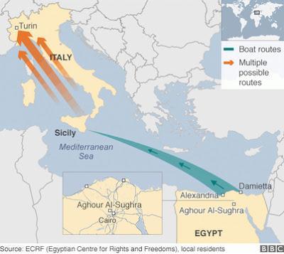 Die neue und stark frequentierte Flüchtlingsroute über Ägypten