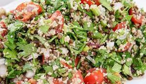 Linsen-Kräuter-Salat Bulgur