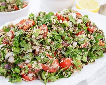 Linsen-Kräuter-Salat mit Bulgur
