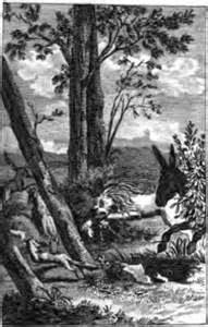 Wie der Esel mit dem Löwen jagen ging   Fabel von Lessing