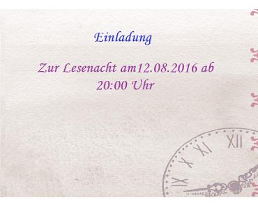 Einladung zur Lesenacht am 12.08.2016