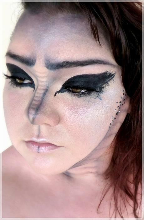 kreativer Thestral Make-up Look