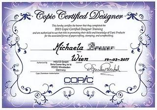 ...Copic Certified Designer.....