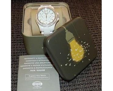 Meine Keramik-Uhr von Fossil ist da und ich liebe sie!!!