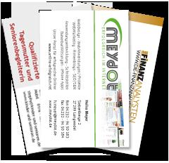 Offline Werbung Visitenkarten Und Briefbogen