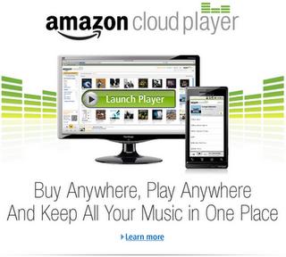 """Amazon """"Cloud Player"""" schickt Musik und Filme in die Wolke."""