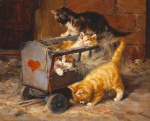 """Die """"Katzenfamilie"""" Julius Adam"""