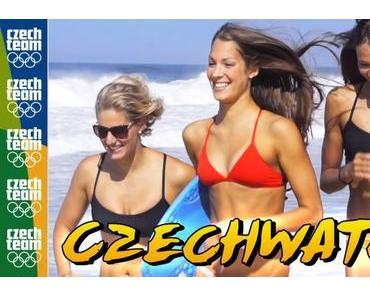 Das Olympia-Team aus Tschechien parodiert Baywatch