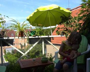 Foto: Juliana auf meinem Balkon im Forum Lüdinghausen