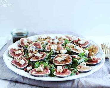 Salat mit Feigen und Castello Blue - ein erster herbstlicher Gruss aus Coco's Küche