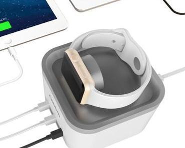 Review: Oittm Ladestation für Apple Watch und drei weitere USB-Geräte