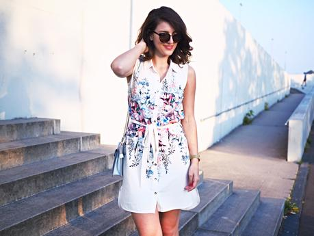 lipsy floral shirt dress summer streetstyle lookbook berlin  look fashion blog