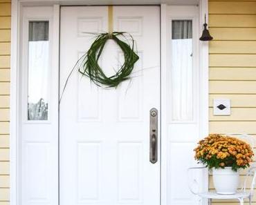 Kreative Ideen mit Schilfgras ... für die Haustüre und den Tisch