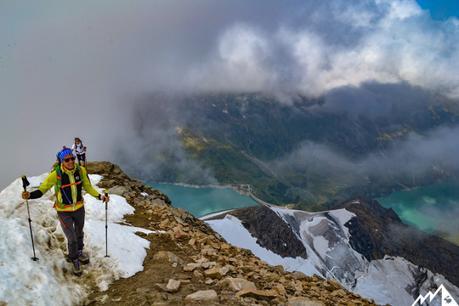 Die letzten Schritte zum Gipfel.