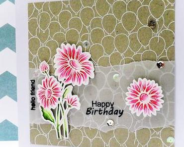 hello friend | happy birthday { card }