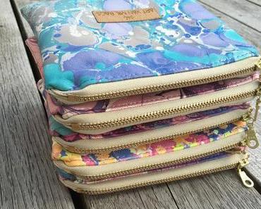 Mein Online-Taschenshop ist offen ♡ und die Kunst des Marmorierens