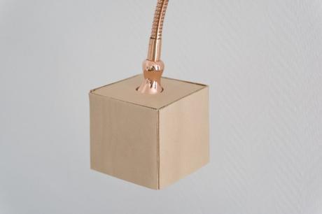 licht leder lampe mit kupfer und naturleder. Black Bedroom Furniture Sets. Home Design Ideas