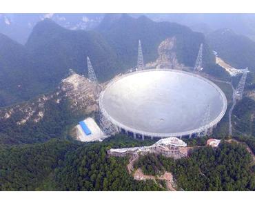 Weltgrößtes Radioteleskop FAST in China in Betrieb