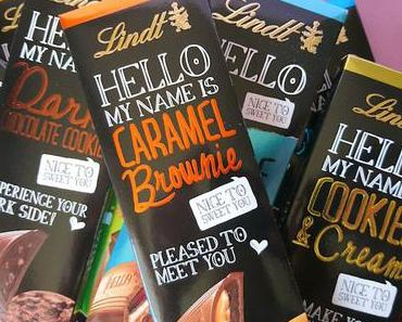 HELLO my name is Lindt HELLO Chocolate - nice to sweet you!
