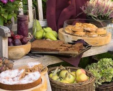 Herbstliches Gartenpicknick  im Hause Zimtkeks und Apfeltarte