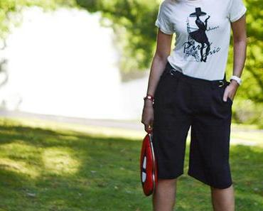 Outfit: Reserved Culottes, Kiss Bag from Skinnydip London and Paris Shirt