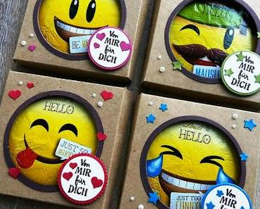 "Pizza-Karton-Goodies mit LINDT ""Hello"" Emotis"