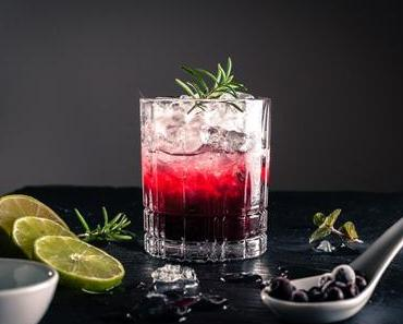 Blaubeer-Limetten-Cocktail