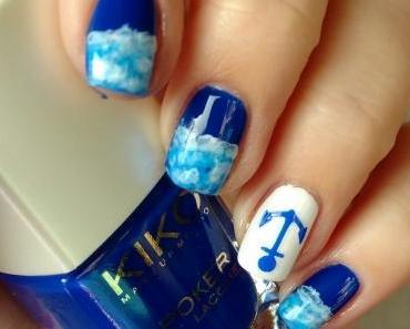 [Nails] Frischlackiert-Challenge: MARITIM mit KIKO Daring Game POKER nail lacquer 05 Exclusive Blue & essence 33 wild white ways
