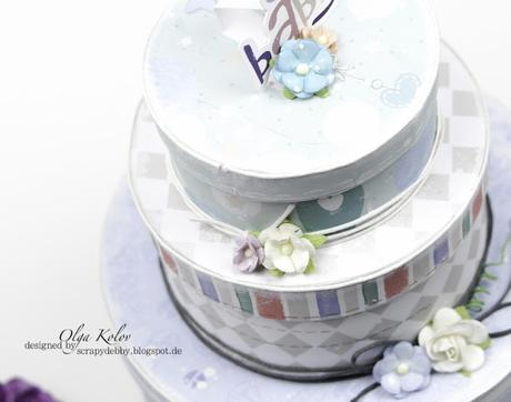 Baby Born Cake - Inspiration with ScrapBerry's