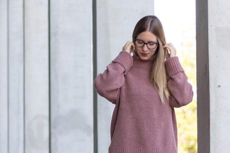 Pink Turtleneck Pullover
