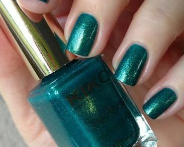 [Nails] Lacke in Farbe ... und bunt! TANNENGRÜN mit KIKO Sun Pearl nail lacquer 428 River Green