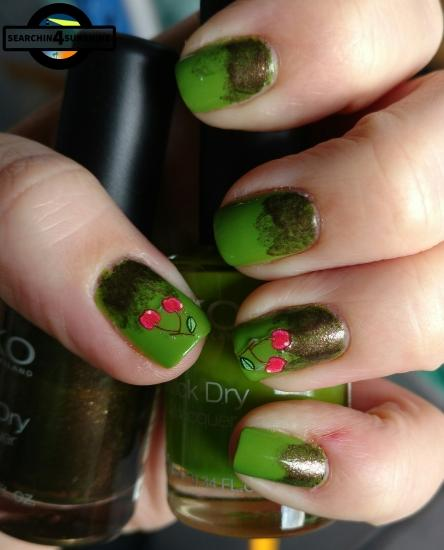 nails frischlackiert challenge obst mit kiko quick dry 851 lime green 813 pearly brown. Black Bedroom Furniture Sets. Home Design Ideas