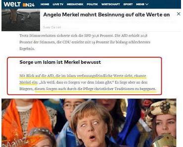 Merkel: Einzige Alternative zum islamischen Gottesstaat ist der christliche Gottesstaat