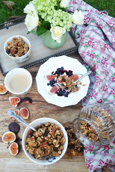Guten Morgen Espresso Granola Mit Cranberries Und Pekannüssen