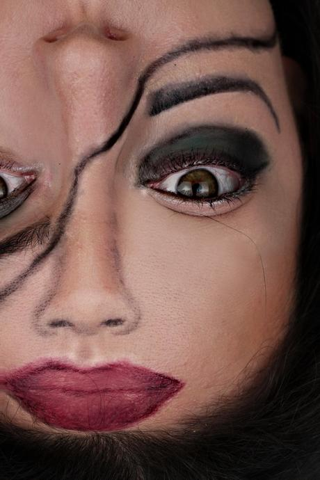 make up halloween einfach
