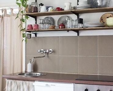 Stauraum unter der Arbeitsplatte - So nähst du einen Vorhang für die Küche