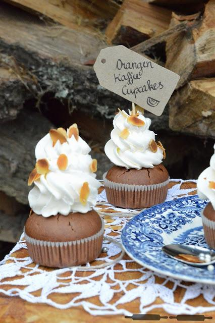 Orangen Kaffee Cupcakes / Orange Cupcakes with Coffee