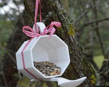 DIY: Vogelfutterstelle aus einer Tasse / Bird Feeder #craftythingsbyverena