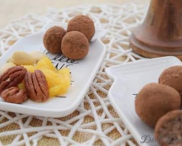 Marzipankartoffeln mit Pekannuss und Orange [Anzeige]
